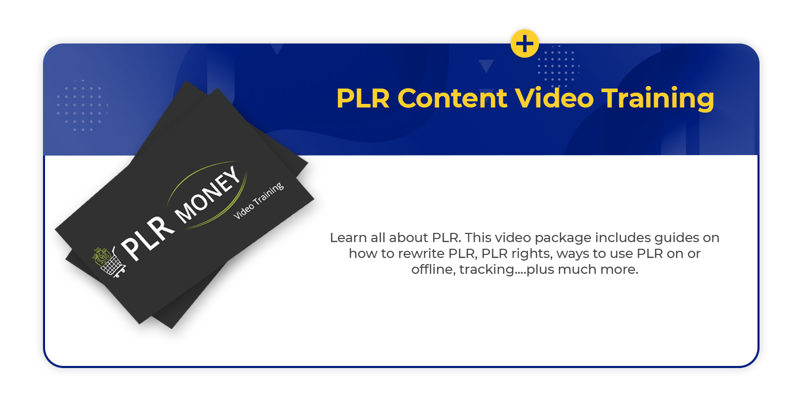 PLR video trainng