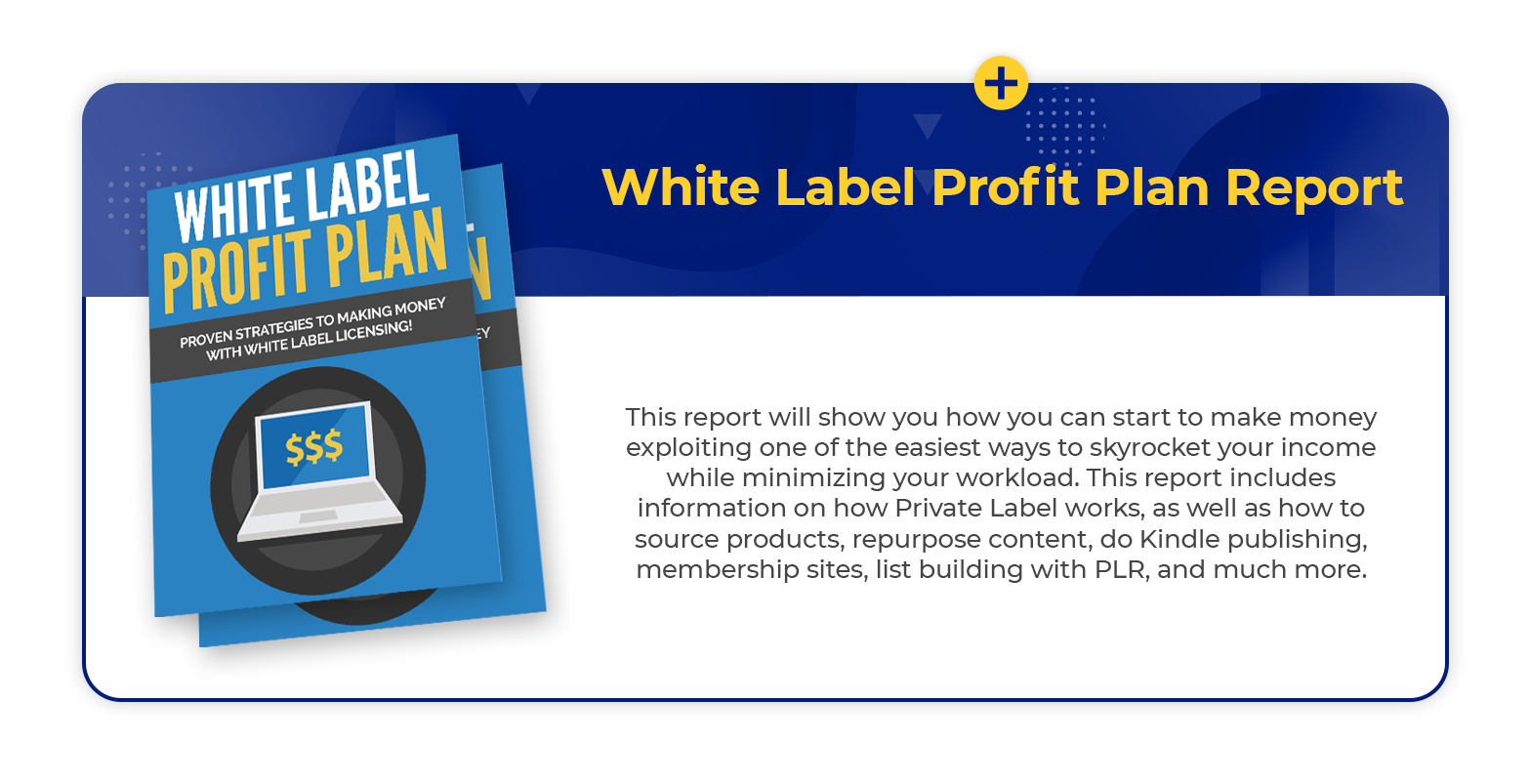 White label Profit report