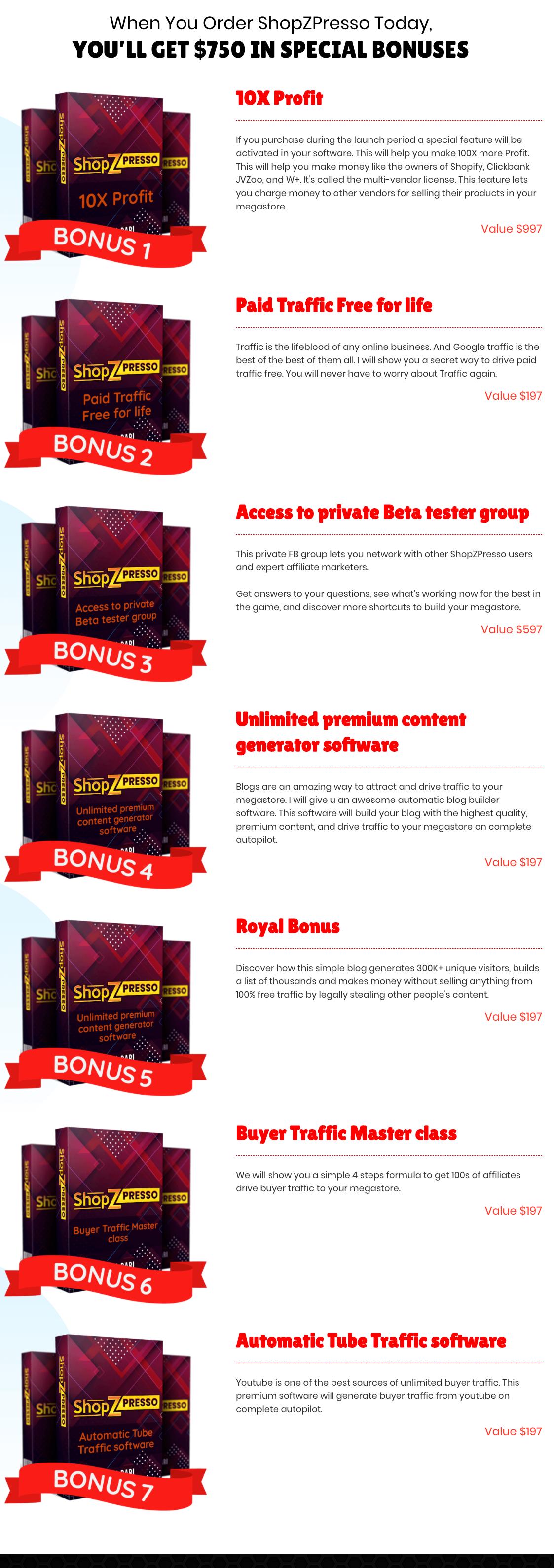 Hot bonus for ShopZPresso 2